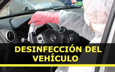 Desinfeccion del vehiculo